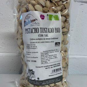 Pistacho Bio tostado con Sal  1 Kg