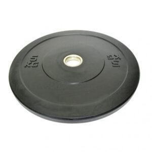 Discos Bumper Goma Negros Casquillo Acero (5-25Kg)