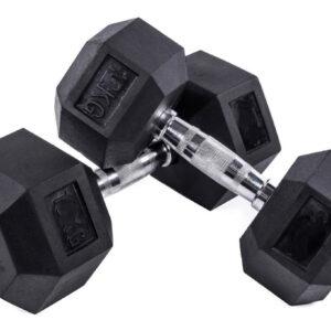Mancuernas Hexagonal de Goma Negra (2,5-50 kg)
