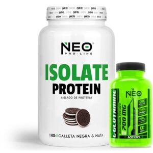 Pack Neo Isolate Protein 1Kg+L-Glutamine 120 caps