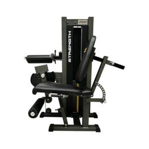 Máquina de cuádriceps y femoral sentado de placas 2 funciones